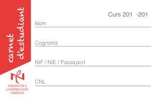 carnet d'estudiant CPNL