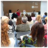 Blanca Busquets a la II Trobada de clubs de lectura de Badia del Vallès