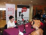 La gravació del programa de Sant Jordi es va fer a la Biblioteca Marcel·lí Domingo.