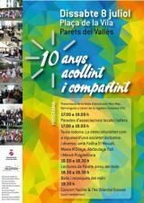 10 anys acollint i compartint: celebració del 10è aniversari del Servei d'Acollida de l'Ajuntament de Parets del Vallès