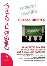 Classe oberta de català per a tothom
