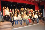 Foto de família de totes les persones que van participar en la cerimònia de lliurament dels guardons del V Premi Font de Santa Caterina. Fotos Jiménez. Ajuntament de Montornès