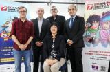 D'esquerra a dreta: Josep Maria Polls, Albert Cavero, Carles Santamaria, Akiko Sagano i Patrici Tixis, després de presentar a la premsa la XXII edició del Saló del Manga de Barcelona.