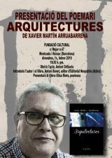 Presentació del poemari <em>Arquitectures</em>, de Xavier Martín i Arruabarrena, a la Fundació Cultural Montcada