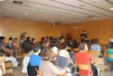 La xerrada de Genís Barcons va ser tot un èxit de convocatòria entre els alumnes dels cursos de català.