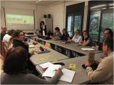 Sessió de presentació del Voluntariat per la llengua a la classe d'intermedi 1 de Mollet del Vallès