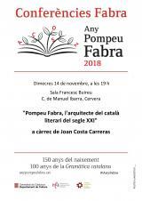 Pompeu Fabra, l'arquitecte del català literari del segle XX