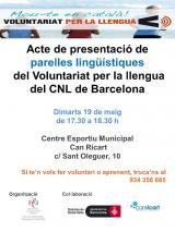 Presentació de parelles lingüístiques a Can Ricart
