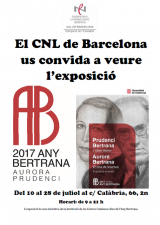 L'exposició Prudenci i Aurora Bertrana arriba a la Delegació de l'Eixample