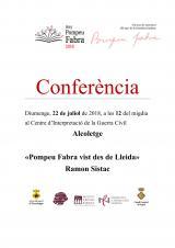 Conferència sobre Fabra a Alcoletge