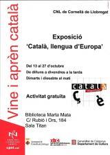 Exposició 'El català llengua d'Europa' arriba a Cornellà