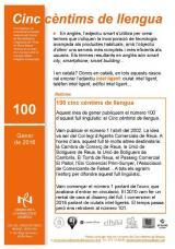 Cinc cèntims de llengua 100