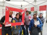 Un grup d'alumnes de Ciutat Vella participa en el joc de la campanya