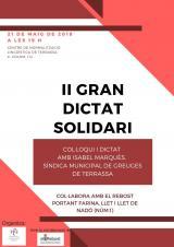 Col·loqui amb la síndica de greuges de Terrassa i Dictat Solidari