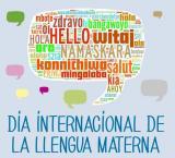 Mural col·lectiu del Dia Internacional de la Llengua Materna