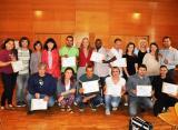 Lliurament de certificats del programa 'Aprèn.cat' de Ripollet