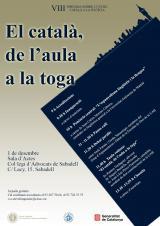 """""""El català de l'aula a la toga"""""""