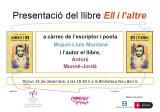 La delegació de Nou Barris ofereix la primera presentació de l'última obra de Munné-Jordà, 'Ell i l'altre', a Barcelona