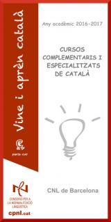 Cursos especíalitzats de català del primer trimestre 2017