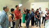 Un moment de la visita al Museu