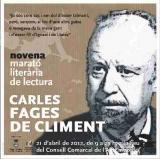 9a Marató literària a l'Alt Empordà: Carles Fages de Climent