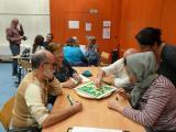 Sessió de joc de Scrabble en català a Llinars del Vallès