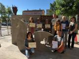 Participants de VxL i Club de LF amb el drac