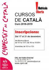 Cursos presencials i semipresencials al Vallès Oriental - Setembre 2018