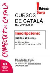 Cursos presencials i semipresencials al Vallès Oriental - Març 2019