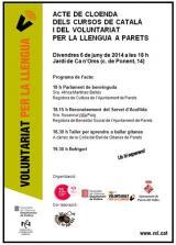 Cloenda dels cursos de català 2013-2014 i de la 18a edició del Voluntariat per la Llengua a Parets