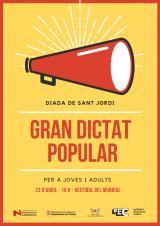 Gran Dictat Popular per la Diada de Sant Jordi a la Bisbal