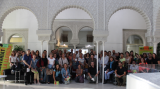 El nou grup de parelles lingüístiques a la seu del Districte d'Horta-Guinardó.