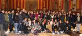 L'alcaldessa de Barcelona, Ada Colau, rep l'alumnat dels cursos de català adreçats als col·lectius filipí i hondureny