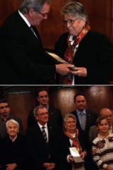 Misericòrdia Pellicer, vídua d'Heribert Barrera, va recollir la Medalla d'Or.