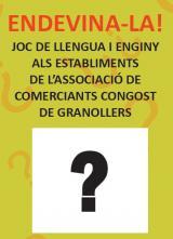 L'Endevina-la!, el joc lingüístic de dinamització als comerços arriba al barri Congost de Granollers!