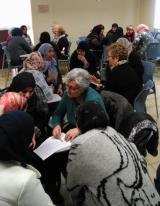 Una imatge dels grups de conversa dels divendres al Casal Cívic de Ferreries