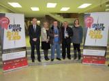 Representants de l'organització de la Ganxet Pintxo amb els guanyadors de la Ganxet Llengua