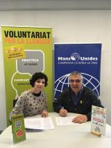 Mans Unides del Vallès Oriental col·labora amb el Voluntariat per la llengua de Granollers