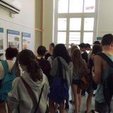 Noranta alumnes de l'Institut Valldemossa de Nou Barris van visitar l'exposició