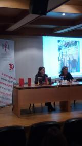 La directora del CNL, Natàlia Tomàs, amb Teresa Artigas