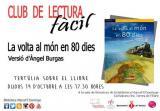 Club de Lectura Fàcil de Tortosa: tertúlia sobre el llibre 'La volta al món en 80 dies', de Jules Verne