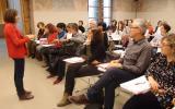 Montserrat Vilà imparteix un taller sobre competència oral amb motiu de la publicació del llibre 'Els secrets de parlar en públic'