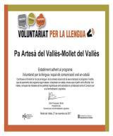 Totes les botigues de Pa Artesà del Vallès de Mollet, adherides al Voluntariat per la llengua
