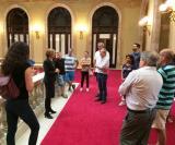Alumnes de Barberà visiten el Parlament de Catalunya