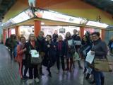 Els alumnes d'E3 de Sant Roc són enregistrats per Televisió Badalona mentre fan les pràctiques de llengua oral
