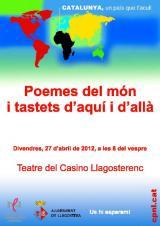 Poemes del món i tastets d'aquí i d'allà al Gironès
