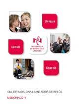 Memòria d'actuacions 2014 del CNL de Badalona i Sant Adrià