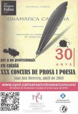 El Servei Local de Català de Sant Just Desvern convoca el XXX Concurs de Prosa i Poesia en Català Sant Jordi 2018