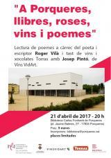 A Porqueres, per St. Jordi, llibres, poemes, vins i roses
