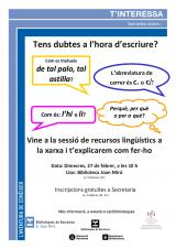 Sessió de recursos lingüístics